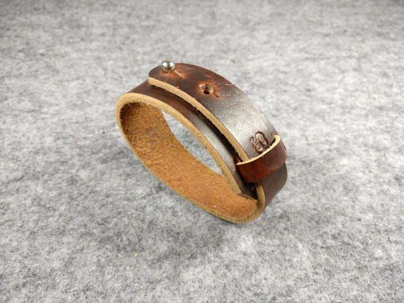 BROWN LEATHER CUFF Bracelet for men Mens Leather Bracelet