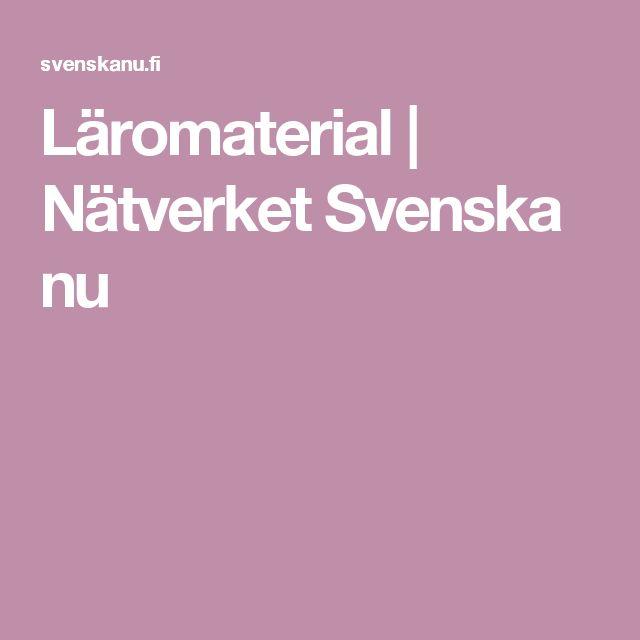 Läromaterial | Nätverket Svenska nu