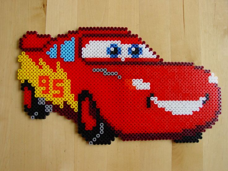 MacQueen - Cars hama beads by Hester