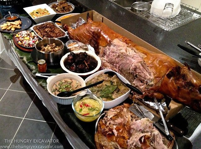 What it is: Whole roasted pig.Why it's awesome: It doubles as the most intense potluck centerpiece you've ever seen.