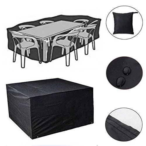 Feikai Outdoor All Weather Furniture Cover, Waterproof Rain Cover Garden  Cases Shelter Square Patio Rattan