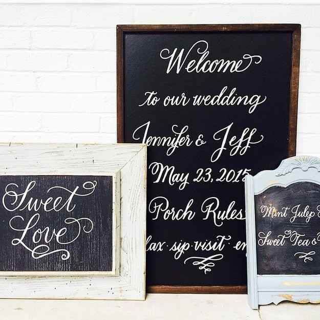 here 39 s a genius trick for making a fancy chalkboard sign trends chalkboard writing and. Black Bedroom Furniture Sets. Home Design Ideas