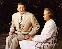Sandra Day O'Connor - first woman to be appointed to the Supreme Court - with President Reagan. She inspires me. After graduation from law school, at least 40 law firms refused to interview her for a position as an attorney because she was a woman. She eventually found employment as a deputy county attorney after she offered to work for no salary and without an office, sharing space with a secretary. She served on the Court of Appeals until 1981 when she was appointed to the Supreme Court.