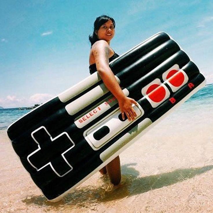 NES Controller Pool Float #shutupandtakemyyen #nes #retro #nintendo #summer #poolfloat #nintendomerch #nintendomerchandise #snes #retrogaming