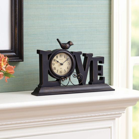 Better Homes And Gardens Love Mantle Clock Mantles Clock And Families