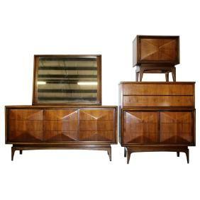 Lot: United Furniture Corporation Bedroom Set, Lot Number: 0129, Starting Bid: $400, Auctioneer: Dutch Auction Sales, Auction: Asian, Fine Art, Luxury Fashion & MCM, Date: June 5th, 2017 PDT