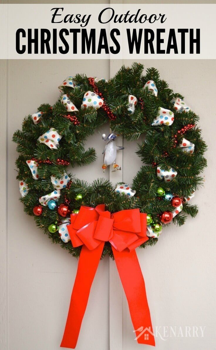 25 Best Ideas About Outdoor Christmas Wreaths On
