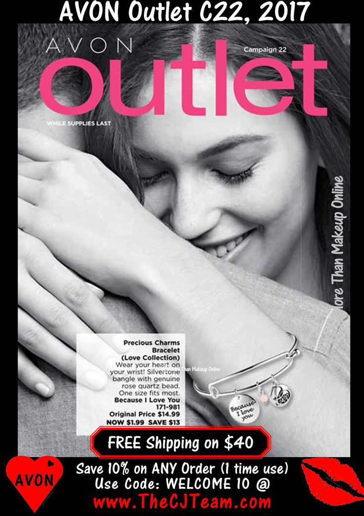 Avon Campaign 22, 2017 Outlet Sale - Shop early, these are only available WHILE SUPPLIES LAST!  Shop Avon Campaign 22, 2017 Outlet online September 28, 2017, through October 11, 2017. #Avon #CJTeam #C22 #Campaign22 #ShopNow #Sale #Outlet #Clearance #WhileSuppliesLast #Jewelry #Makeup #SkinCare #HomeDecor Sell Avon Online @ www.CJTeam.us. Shop Avon Online & Save 10% off ANY size order with coupon code: WELCOME10 @ www.TheCJTeam.com