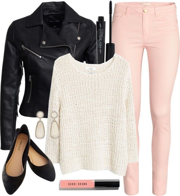 Alison Dilaurentis inspired outfit with a leather jacket por liarsstyle usando pointed toe flats