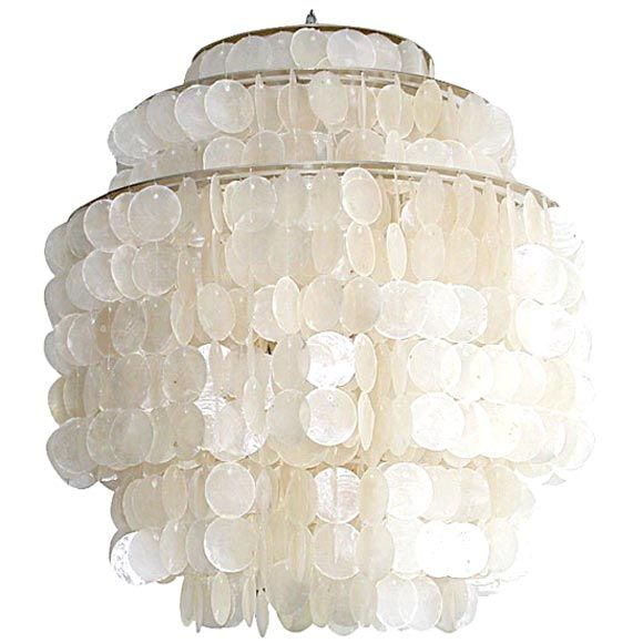 I Have An Antique Capiz Shell Light That Is Like 4 Ft Tall Going To Restring It In More Of This Shape And Put The Middle Where Fan