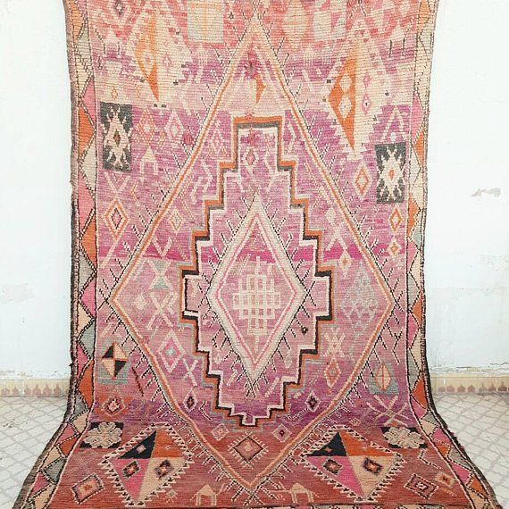 Sold Insta Flash Vintage Pink Moroccan Boujaad Rug 1950s Price 1099 Usd Size 2 90x1 85m 9 5 X 6 1 Feet Shipping Cost To Usa 130