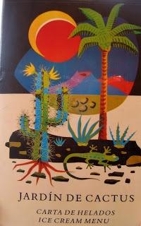 Poster advertising Lanzarote cactus garden designed by Cesar Manrique