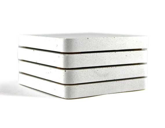 Concrete Coaster Set. Concrete Coasters. Drink by Zeitgeistfactory, $29.00