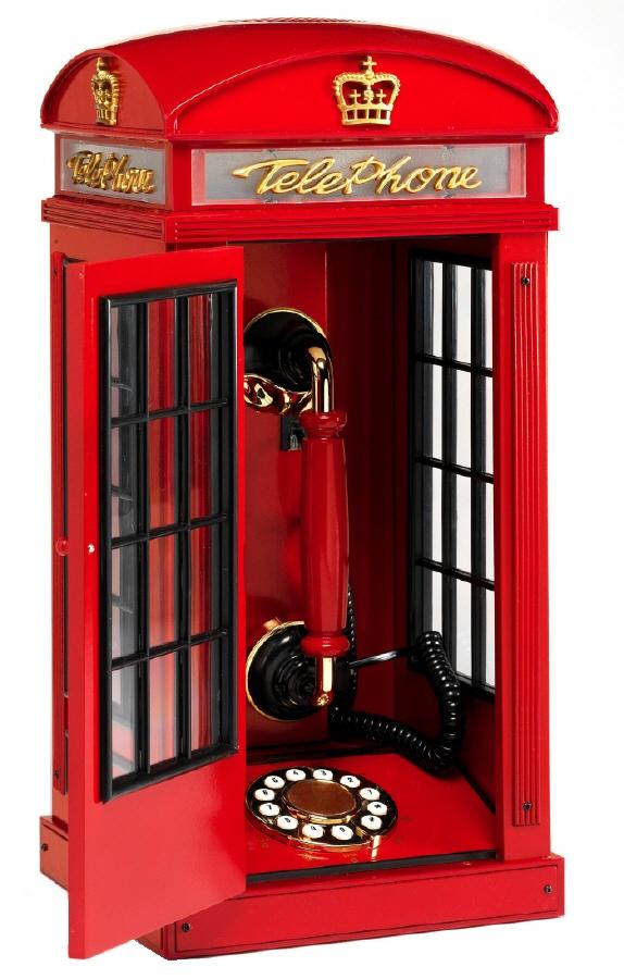 #telefono en una cabina telefonica britanica