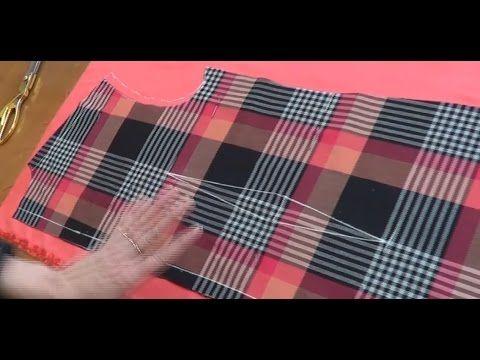 Как раскроить подкладку на платье - YouTube