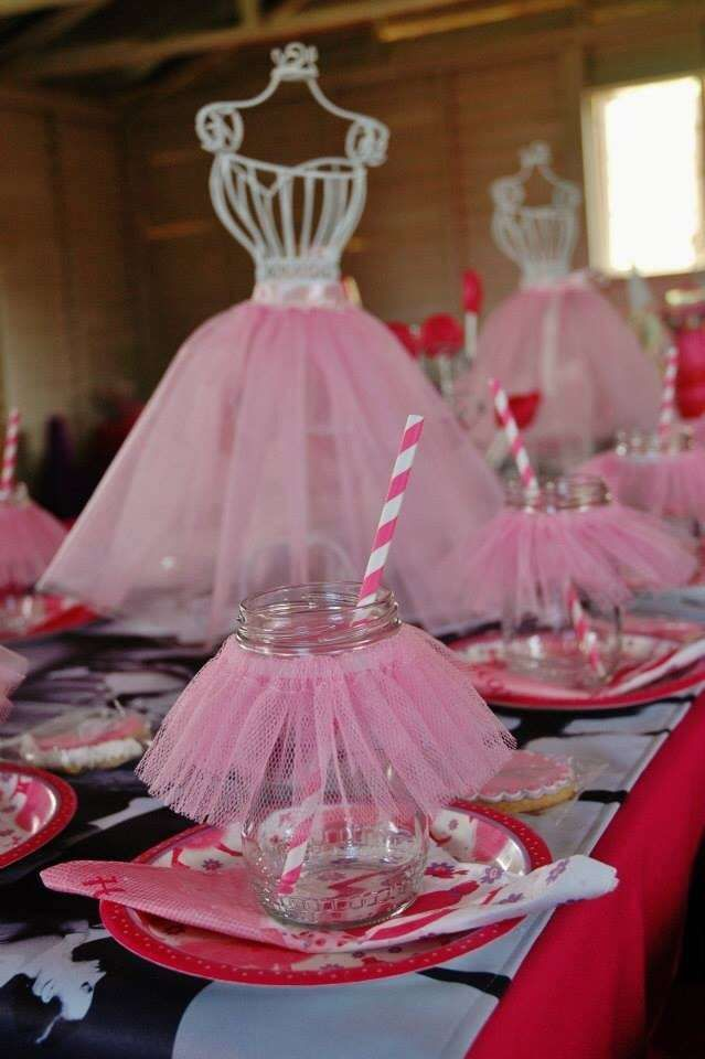 cheap online mobile shopping Ballet Birthday Party table settings and centerpiece  See more party planning ideas at CatchMyParty com