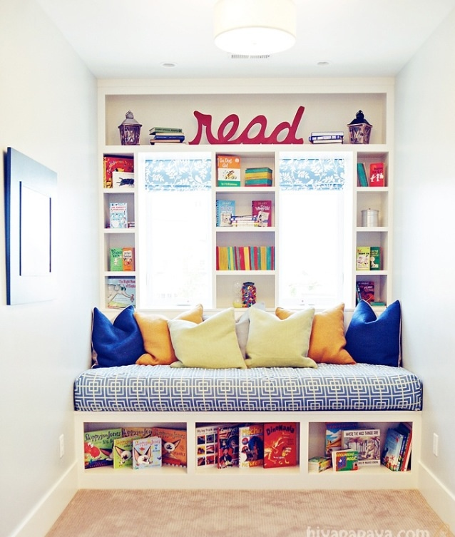 Reading Bench Under Window Kids Room Ideas Pinterest Bench Under Windows Nooks And For Kids