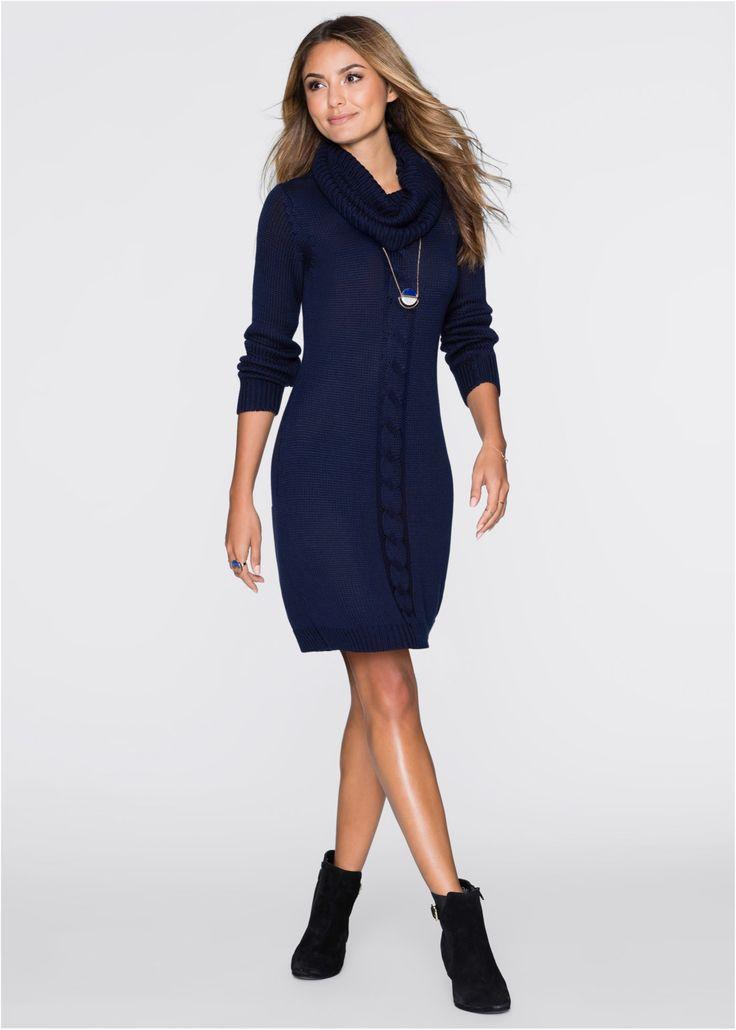 Strickkleid mit Rollkragen mitternachtsblau jetzt im Online Shop von bonprix.de ab ? 23,99 bestellen. Wunderschönes Kleid der Marke BODYFLIRT mit angesagtem ...