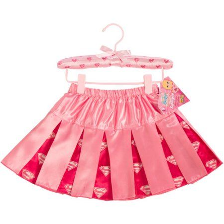 Supergirl Pleated Skirt Child Costume, Girl's, Size: Small, Pink