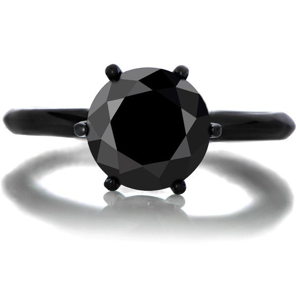 Enya's 1.5ct Black CZ Engagement Ring ($9) ❤ liked on Polyvore featuring jewelry, rings, cubic zirconia jewelry, cz jewellery, imitation engagement rings, cubic zirconia rings and fake jewelry