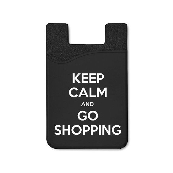 Keep Calm And Go Shopping  Silicone Adhesive Card by cardiies