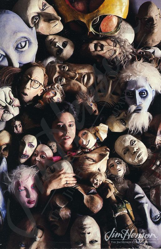Julie Taymor and her puppet from Liberty's Taken, 1983.