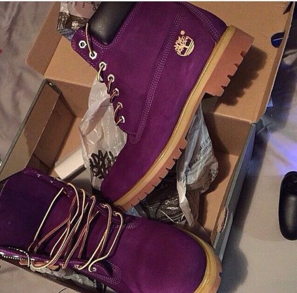 Shoes: dark, purple shoes, burgundy shoes, timberlands boots ...