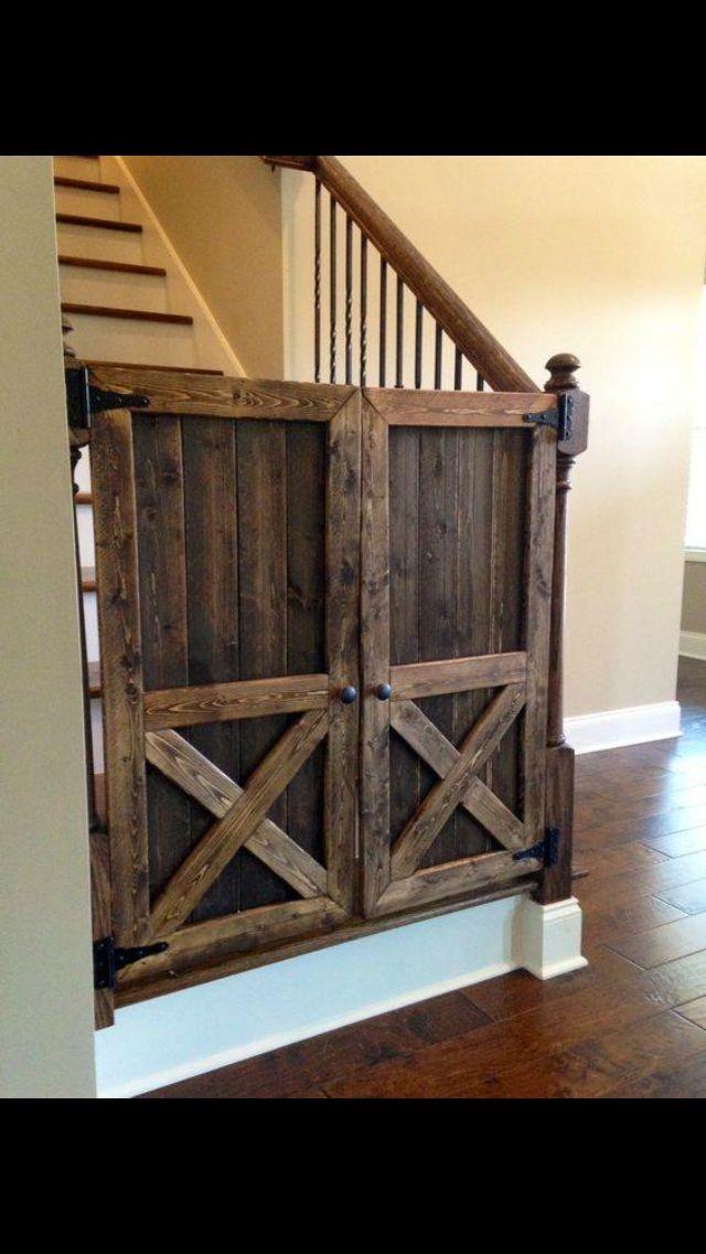 saloon style barnwood baby gate!!!