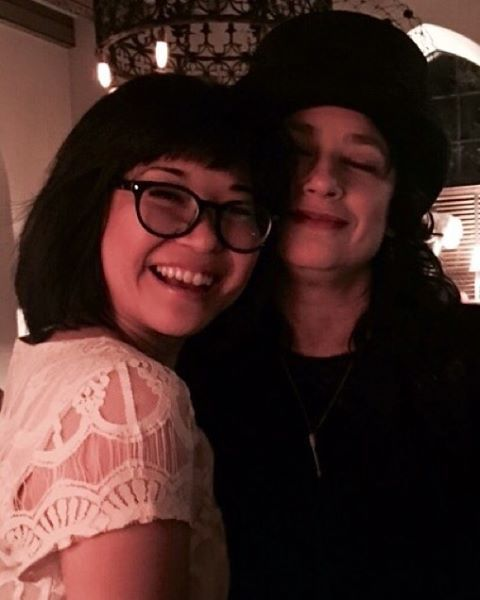 Pin for Later: The Gilmore Girls Cast Has Been Busy Posting Pictures From Behind the Scenes  Keiko Agena, who plays Rory's BFF Lane, posed with Gilmore Girls creator Amy Sherman-Palladino.