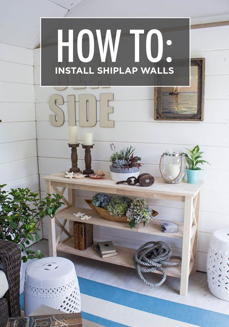 How to install shiplap walls home the o 39 jays and cape cod - How to install shiplap on interior walls ...
