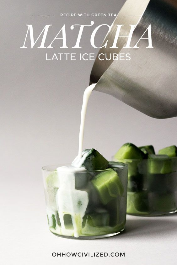 Matcha (Green Tea) Latte Ice Cubes - super easy and so good!