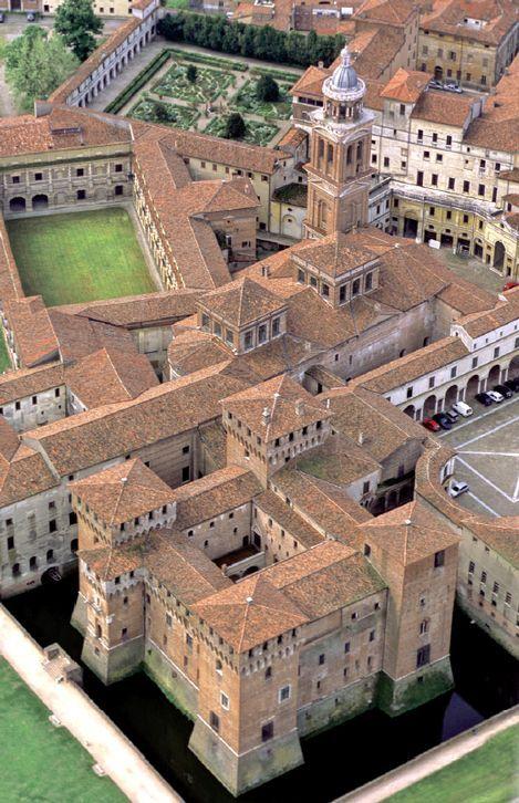 Palazzo Ducale view - Mantova and Sabbioneta, in the Po valley, province of Mantova , Lombardy region Italy