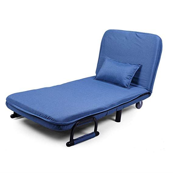 Amazon Com Jaxpety Blue Sofa Bed Folding Arm Chair 29 5 Width