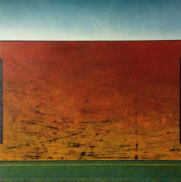 Richard Adams - Burnt - mixed media on canvas