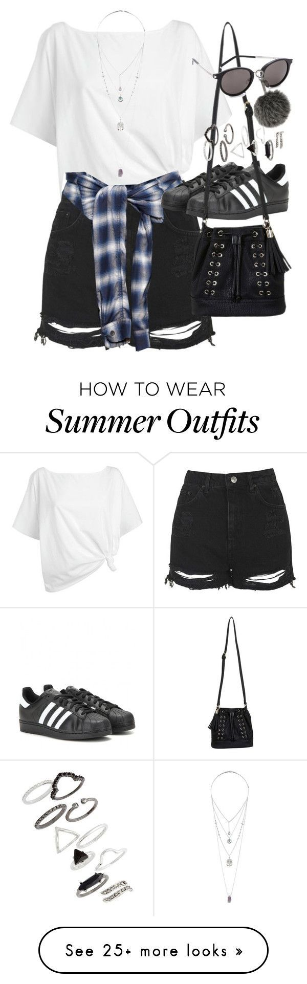 """""""Outfit for summer with sneakers"""" by ferned on Polyvore featuring Red Herring, Topshop, Miharayasuhiro, adidas, Miss Selfridge, Yves Saint Laurent and Fendi"""