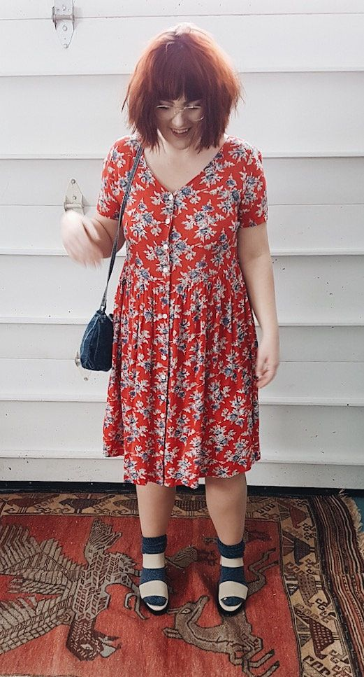 Vintage* Retro Floral Summer Dress by itsMagari on Etsy