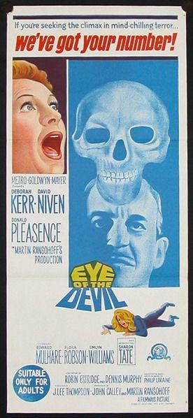 Eye of the Devil (1966)Stars: Deborah Kerr, David Niven, Donald Pleasence, Edward Mulhare (Australian Daybill)