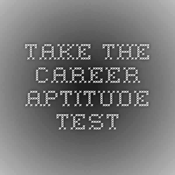 Take the Career Aptitude Test Success Pinterest Career - career aptitude test