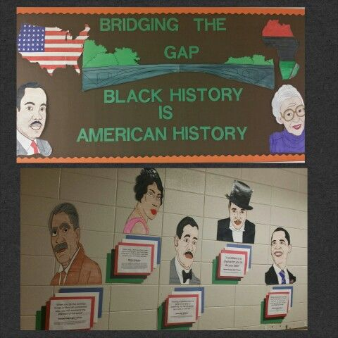 Black history month mural door and bulletin board decor for Black history mural