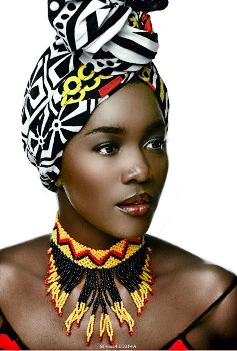 African inspired head wrap.