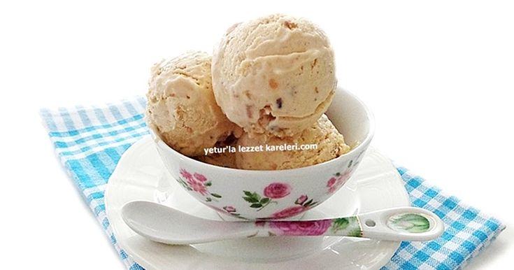 doğaçlama hazırladığım karamelli dondurma soft kıvamda harika oldu...özellikle ceviz dondurma içinde karamelle muhteşem bir kombin ...