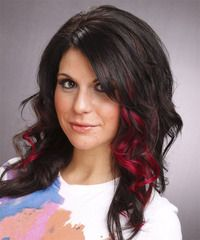 my next hair color, love wild orchard Another variation of the dark hair/pink highlights