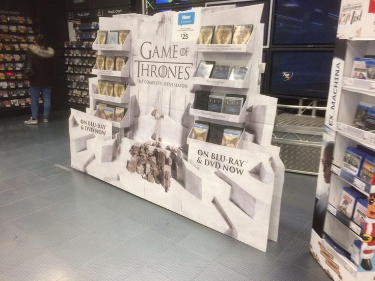 Temporary POS Design - Cardboard Design - In-Store Display - Game Of Thrones Standee