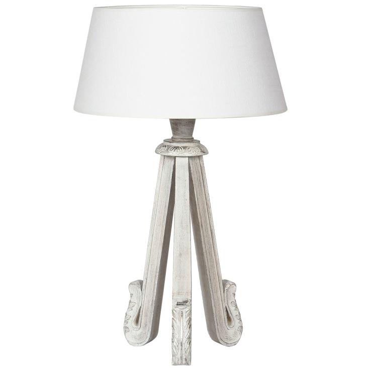 Une lampe en bois avec pied travaillé http  www articlesdeco com cote table lampe en bois  # Lampe Avec Pied En Bois