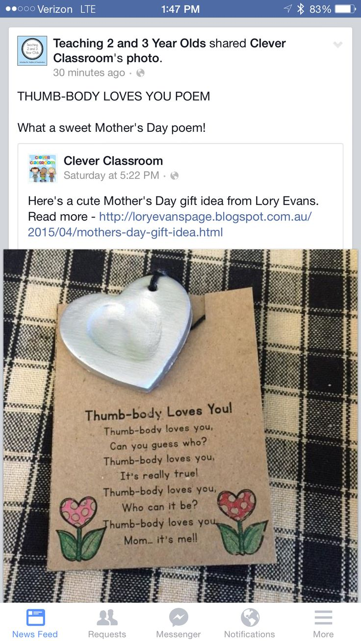 Mother's Day thumbprint necklace