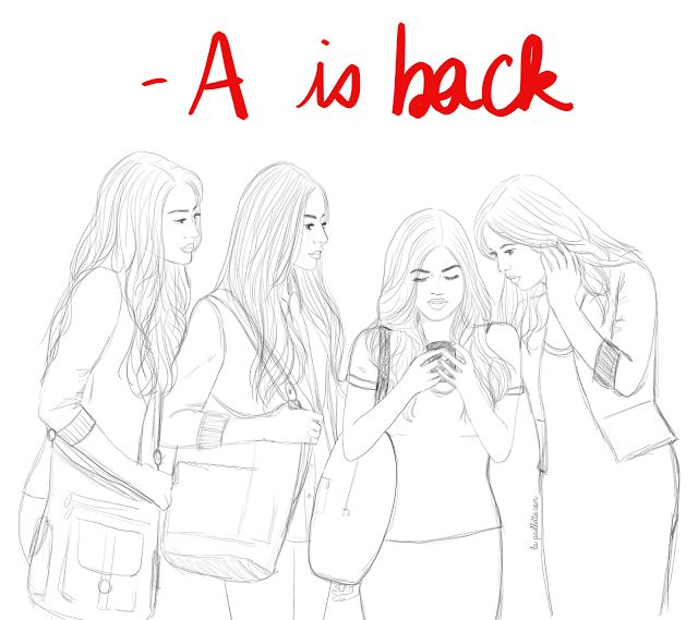 Pretty little liars drawing illustration aria hanna for Pretty little liars coloring pages