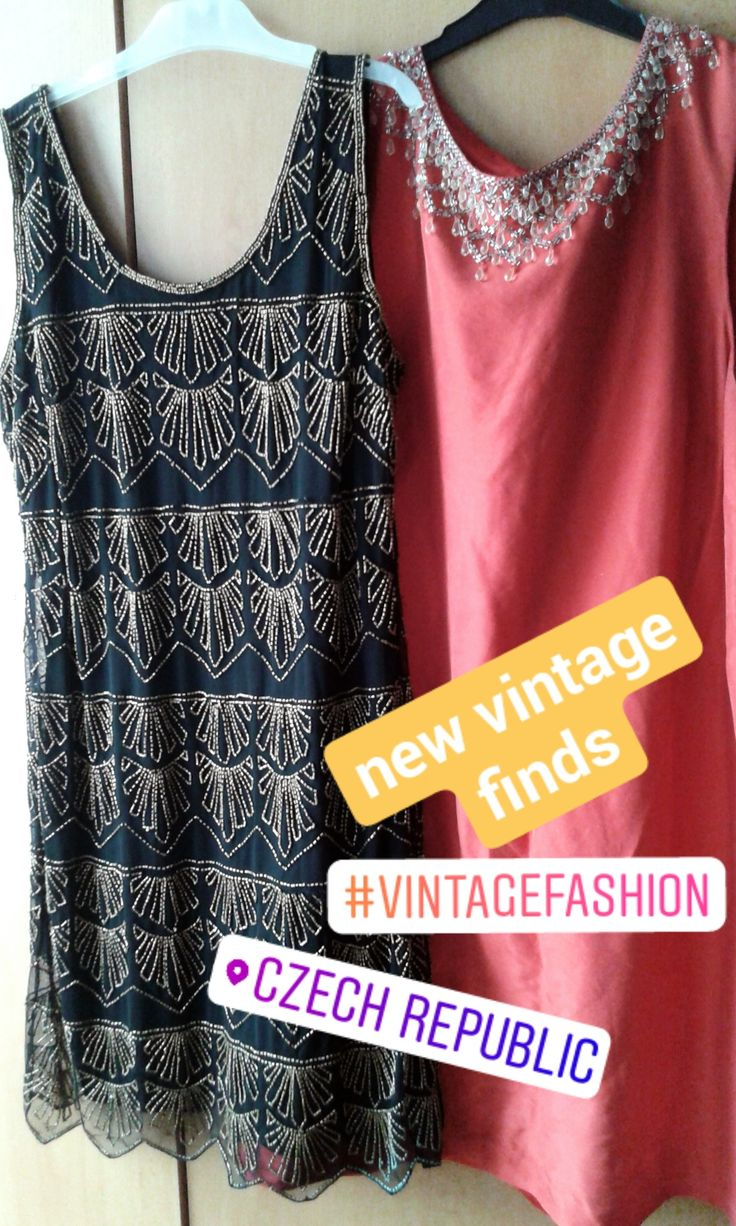 These dresses with bead embroidery are my recent vintage finds, they are amazing and the shop too! via Instagram stories of @quaintrelle.georgiana  https://www.instagram.com/quaintrelle.georgiana/ | Georgiana Quaint