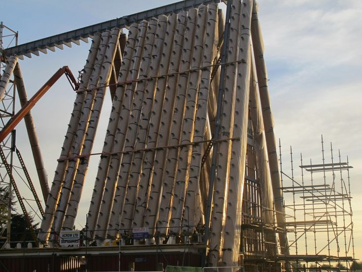 Shigeru Ban's Cardboard Cathedral Underway in New Zealand | http://www.archdaily.com/345255/shigeru-bans-cardboard-cathedral-underway-in-new-zealand/?utm_source=ArchDaily+List_campaign=67e64ead68-RSS_EMAIL_CAMPAIGN_medium=email