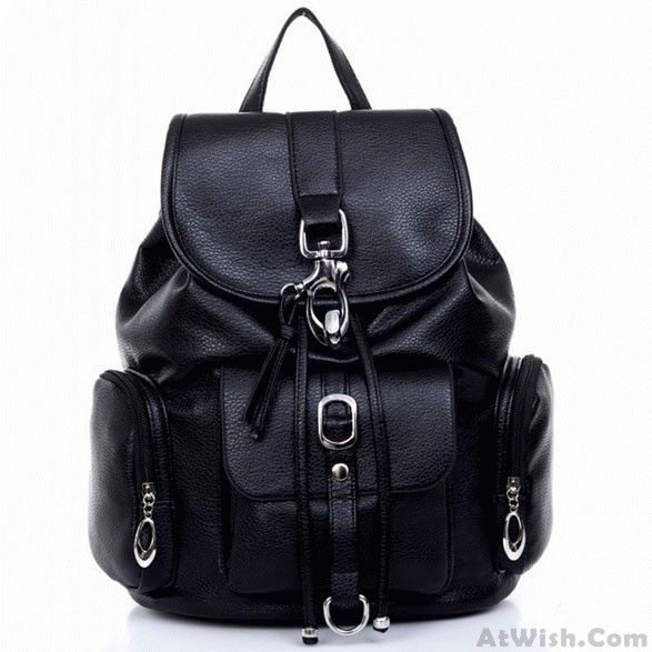 Wow~ Awesome College Multi Pockets Buckle Backpack Schoolbag ! It only $34.99 at www.AtWish.com! I like it so much<3<3!