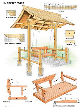 Sheltered swing or make the swing removable & put a hammock in on occasion.